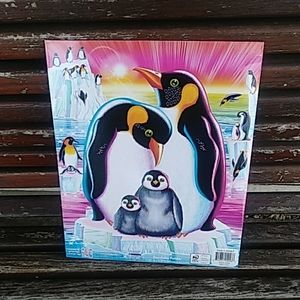 Lisa Frank penguin folder